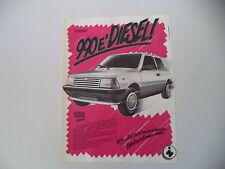 advertising Pubblicità 1987 INNOCENTI MINI 990 DIESEL