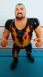 Bam Bam Bigelow WWF Hasbro Vintage Action Figure Rare Red Card WWF Hasbro Figure