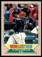 2017 TOPPS HERITAGE NOW AND THEN FRANCISCO LINDOR INDIANS #NT-4 INSERT