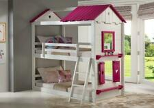 Donco Kids Sweetheart Bunkbed No Tent Twin/Twin Pink and White