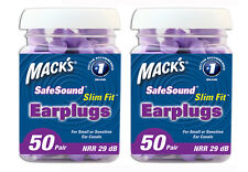 MACKS(MACK'S) SLIM FIT FOAM EARPLUGS 50 PAIR JAR TWIN PACK 100 PAIRS