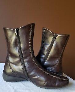 Paul Green Munchen brown quarter boots, AUS 6.5 (US 8.5)