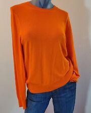 Dries Van Noten Orange Viscose Blend Long Sleeve Sweater Size L (#218)