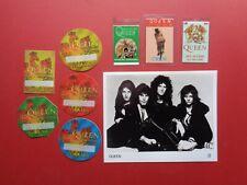 "Queen,8x10"" B/W promo photo,8 Rare Original Backstage passes"