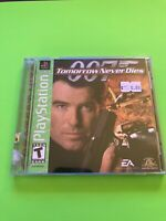 🔥PS1 PlayStation 1 PSX GAME 💯COMPLETE WORKING GAME 007 TOMORROW NEVER DIES