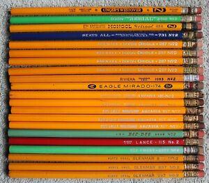 21 Vintage Unused Pencils: Albert Unger, Dixon, Eagle, American, E. Faber