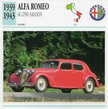 1939-1943 ALFA ROMEO 6C-2500 SALOON Classic Car Photograph/Information Maxi Card