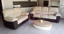 divano divani imbottito 2 posti + 3 posti in ecopelle pelle salotto qualità