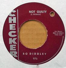 BO DIDDLEY - NOT GUILTY b/w AZTEC - CHECKER - MAROON LABEL