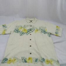 Mens Tommy Bahama Camp Hawaiian Shirt Bird of Paradise Silk Size Medium Vintage