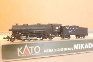 N scale  Mikado KATO Santa Fe Steam 2-8-2 4016 in case   Lot NK 8