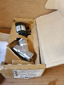 BURKERT 2000 A 1/2 PTFE SS NPT3/8 PMED  PILOT 2/2 WAY ANGLE SEAT VALVE STAINLESS