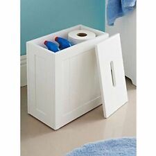 Maine Bathroom Toilet Cleaning Product Storage Tidy Box with White Crisp Finish