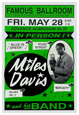 Miles Davis  *POSTER*  Jazz MASTER print - EARLY Live Concert  - MUST SEE