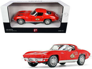 1963 CHEVROLET CORVETTE RED THE BUSTED KNUCKLE GARAGE 1/24 FIRST GEAR 49-0426B7