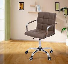 HomCom PU Leather Adjustable Executive Office Chair Computer Desk Task Swivel