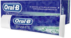 Oral-B 3D White Vitalizing Fresh Mint Toothpaste Whitening Enamel Protect - 75ml