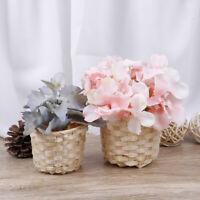 Rattan Plant Box Wicker Basket Nursery Pots Sea Grass Storage Basket Flower  FHK