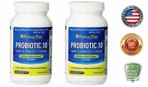 Puritans Pride Probiotic 10 (20 Billion Active Cultures) 120 Capsules (2 PACK)