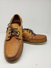Allen Edmonds Eastport Leather Tan Deck Boat Shoes Men's size 11.5B