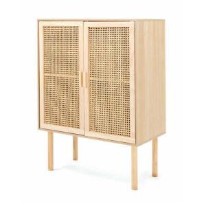 New Rattan Cabinet Buffet Handmade Natural Storage Organiser Solid Timber Wood D