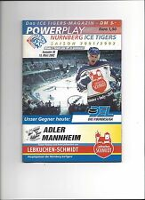 DEL Programm: NÜRNBERG ICE TIGERS - ADLER MANNHEIM 15.03.2002, SAISON 01/02