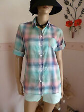 H.I.S Damen Busines-Freizeithemd-Bluse mit Karo-Design Gr M/38-40 UVP 59,95€ Neu