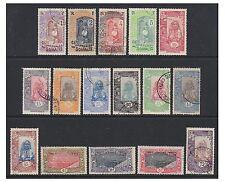Somali Coast - 1915/16, 1c - 5f (Exc. 50c) set - F/U - SG 168/84
