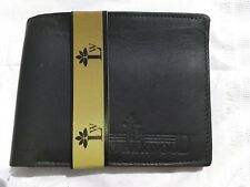 MENS  SAFE DESIGNER LEATHER WALLET BLACK CREDIT CARD HOLDER PURSE