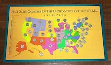 First State Quarters of the United States Collector's Map w/ 50 Quarters [03Weir