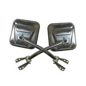 Smittybilt Side Mirrors Stainless Steel for Jeep CJ 1955-1986