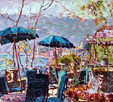 Marco Sassone Porto Roca Serigraph 1989 Hand Signed Art SUBMIT AN OFFER