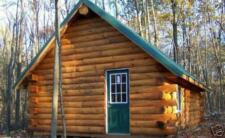 8 X 7 RUSTIC HAND-PEELED D-LOGS BUILD YOUR OWN CABIN OR LOG GARAGE - WHOLESALE