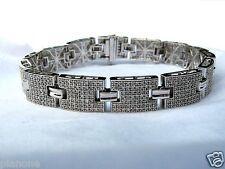 """4.00 Carat Sterling Silver .925 Tennis Bracelet 9"""" Long Men or Women Wrist Ankle"""