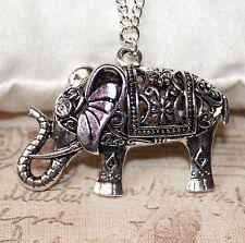 Lunga collana argento con ciondolo elefante in un 36 inch CATENA