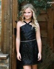 NEW Dolls & Divas Daddy Daughter Black Sequin Elegant  Tween Girls Dress 14 16