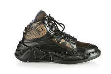 Roberto Botticelli Leather Italian Sneakers New Black