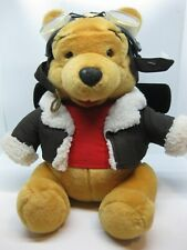 "Disney Store PILOT POOH 14"" Winnie The Pooh Jointed Plush"