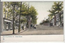 Lithograph - Bethlehem, PA - Broad Street - early 1900s