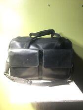 HARTMANN BLACK BELTING LEATHER LAPTOP BRIEFCASE BRIEF BAG Expandable Shoulder