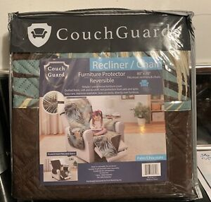 Couch Guard Reversible Furniture Protector Recliner/Chair  PALM/CHOCOLATE
