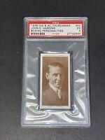 1938 Churchman #50 John E. Harding Boxing Personalities PSA 5 EX