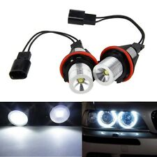 2xFor BMW E61 E63 E65 E87 X5 Series Angel Eye Halo Ring Luz Blanca Led Bombillas