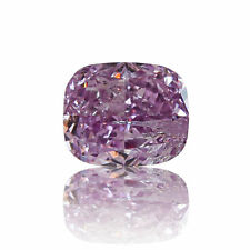 Pink Diamond Rare Purple Color 0 .19 Ct GIA Certified Natural Loose Cushion Cut