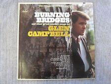 GLEN CAMPBELL ~ BURNING BRIDGES  VINYL RECORD LP / 1985 CAPITOL RECORDS