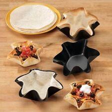4Set Nonstick Petite Tortilla Tostada Bowl Taco Shell Bakers Molds Salad Desert