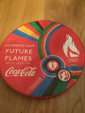London 2012 Olympics Coca Cola Olympic Torch Relay Hand Drum Rare & Collectable