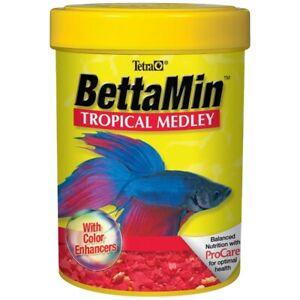 Tetra Betta Tropical Flake Medley 0.81Oz Fish Food With Color Enhancers Bettamin