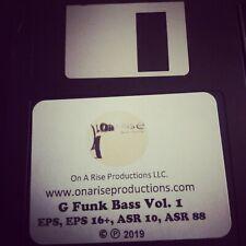 G Funk Bass Vol 1 Custom Sound Kit for Ensoniq EPS, ASR 10, EPS 16 Plus & ASR 88