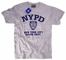 NYPD Short Sleeve Navy Print Logo T-Shirt Gray New York City Police Mens Shirt